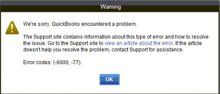 Quickbooks Error 6000 77